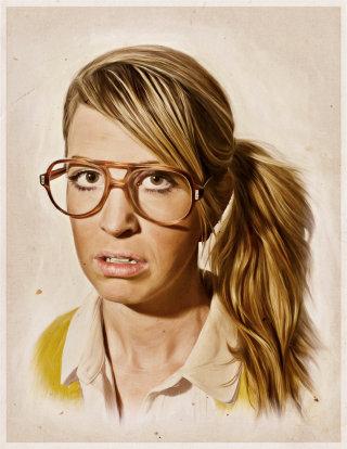 Paper art illustration of I am nerd series