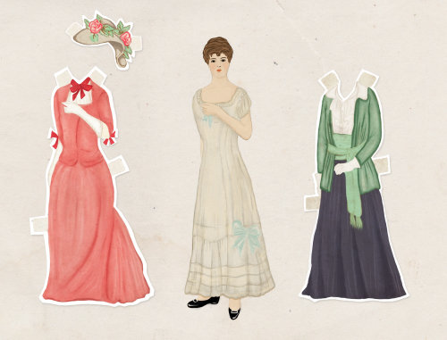 Fashion illustration of women dress