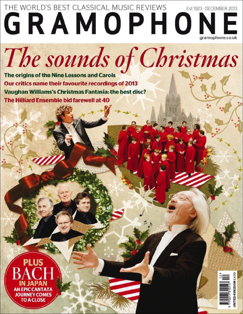 The sounds of Christmas illustration for Gramophone Magazine