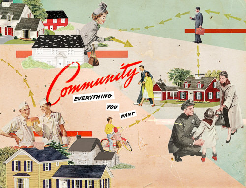 Community everything you want collage art