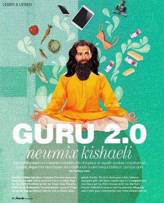 Illustration of guru by Heather Landis