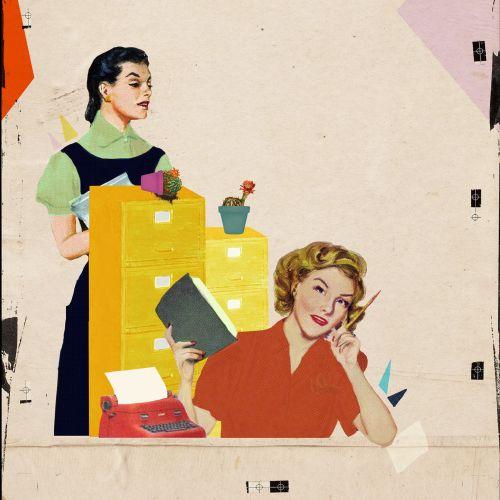 Working women illustration by Heather Landis