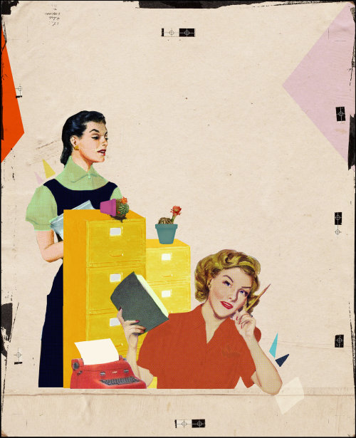 Working women illustration by Heather Landis