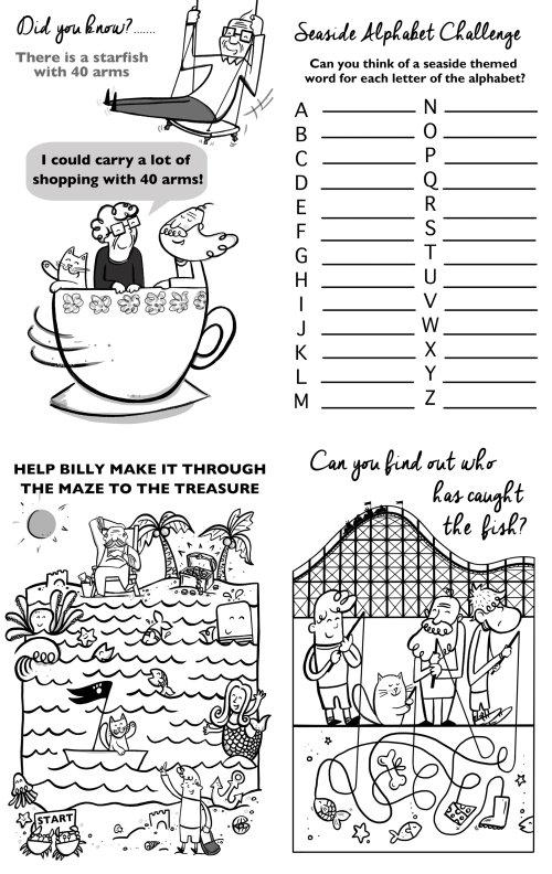 Line illustration of kids essay writing