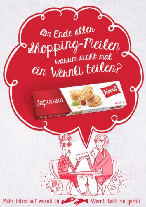 Ilustração publicitária para wernli