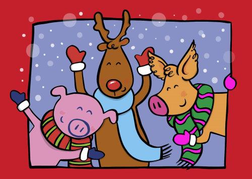 Personagens de desenhos animados por Helen Lang