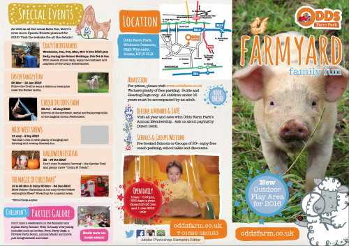 DDS farm park advertising illustration