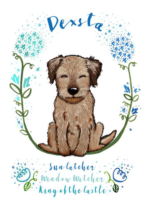 Ilustração de cachorro