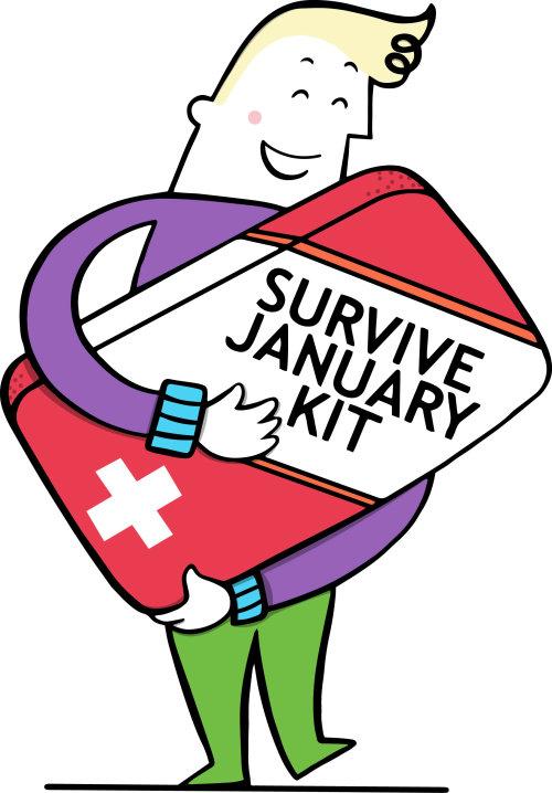 Survive January kit illustration