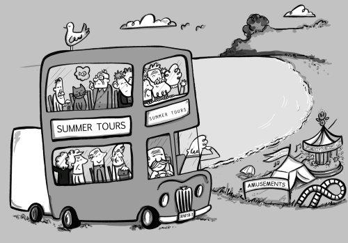 Ilustração de um ônibus