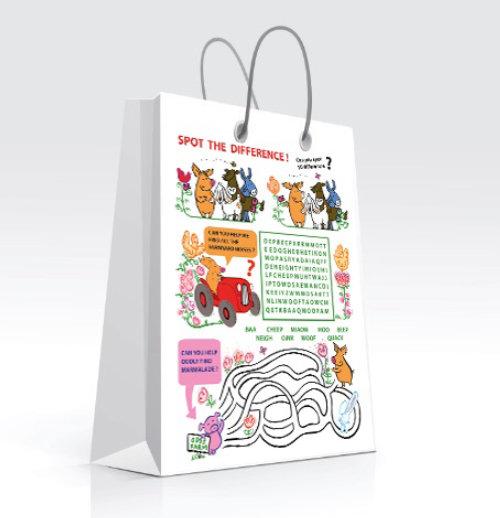 Ilustração de saco decorativo