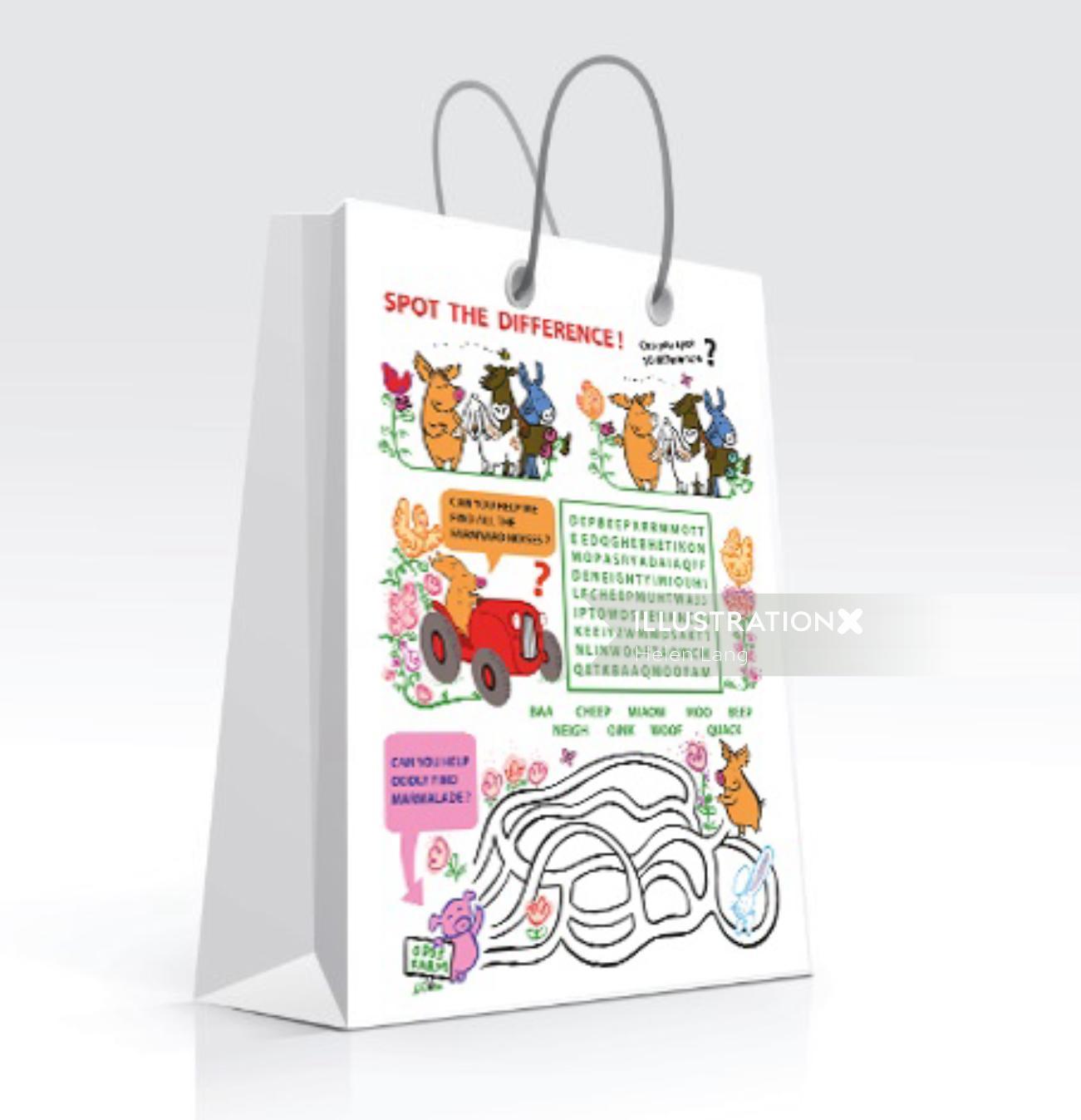 Illustration of decorative bag