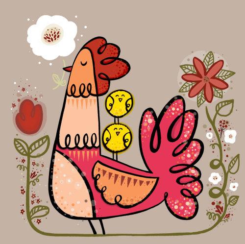 Ilustração de galinha
