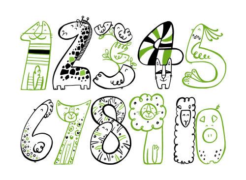 Ilustração de números decorativos