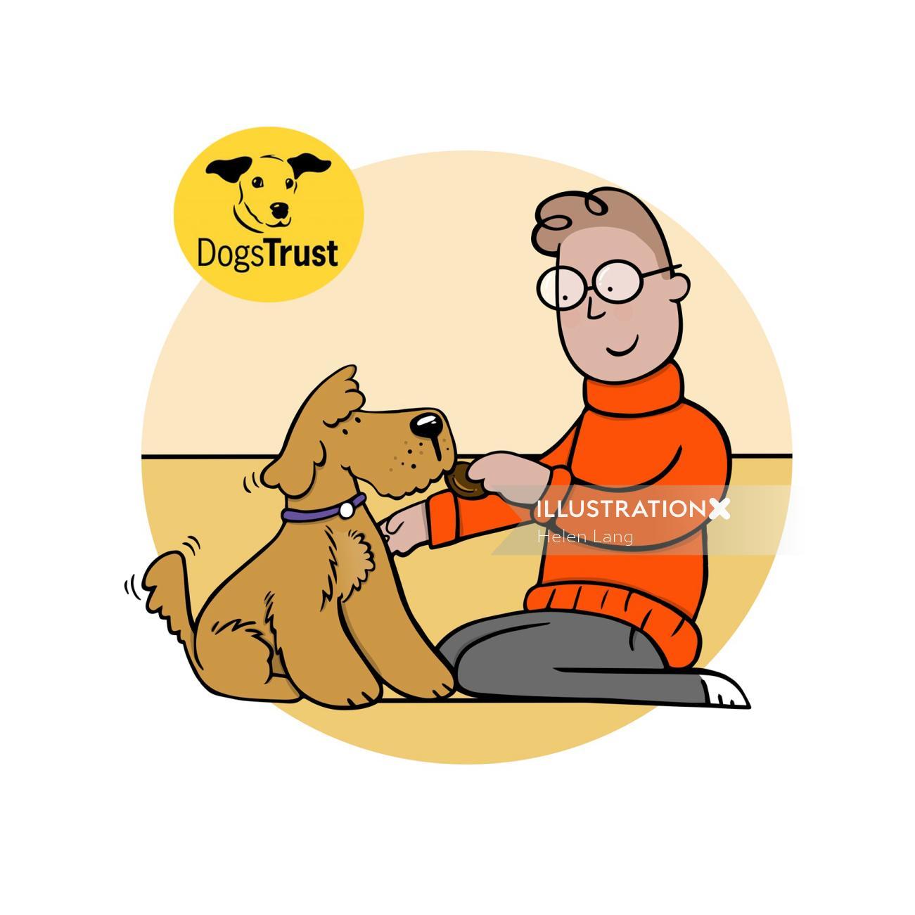 Graphic illustration of pets