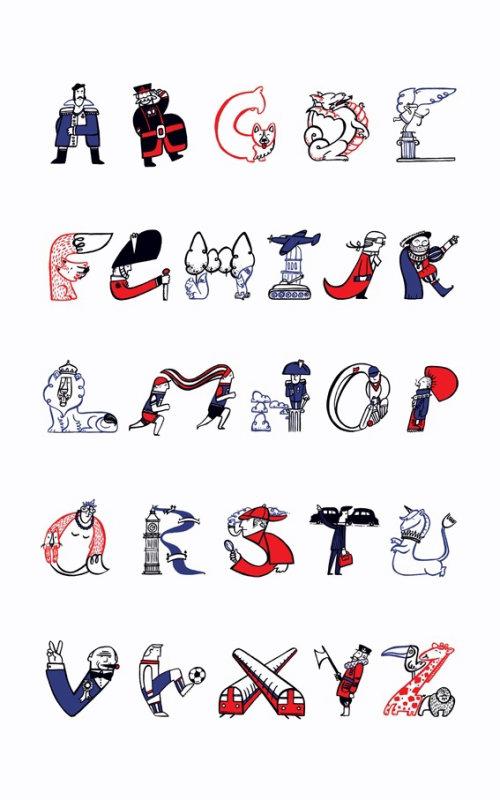 Ilustração de letras