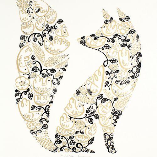 Illustration of decorative Fox