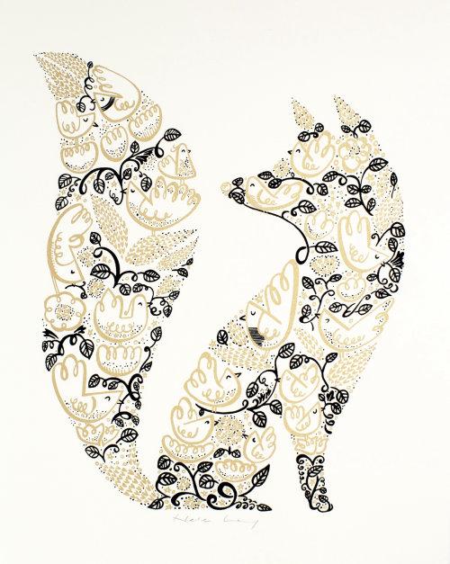 Ilustração de Fox decorativo