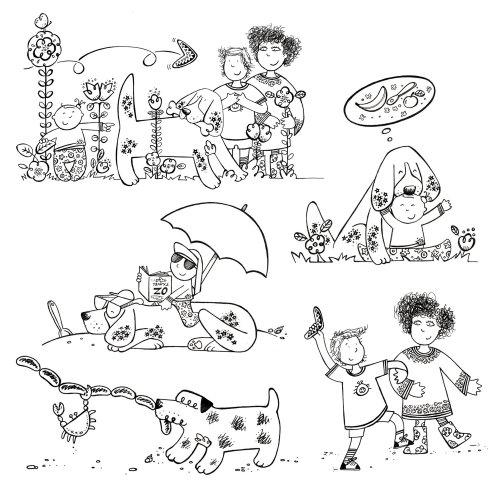 Personagens em um livro infantil