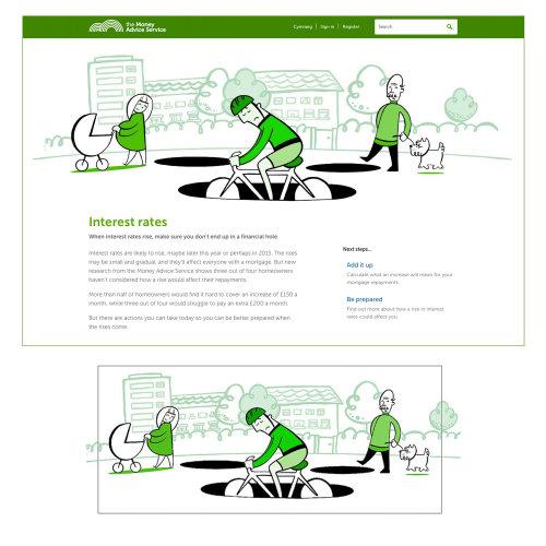 Serviço de consultoria Illustration for Money