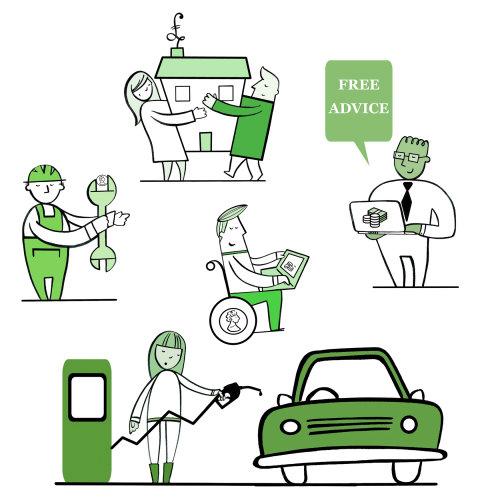 Ilustração de caracteres de dinheiro