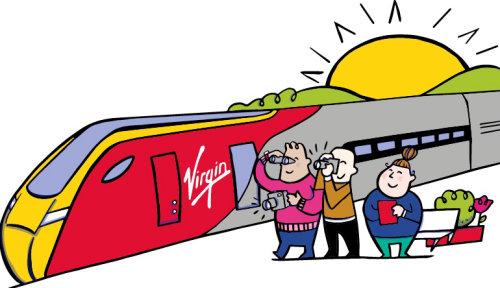 Ilustração para trens virgens