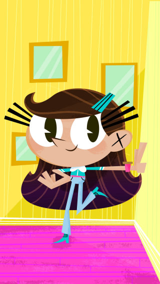Little girl cartoon artwork