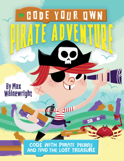 Code Your Own Pirate Adventure Book Cover Design