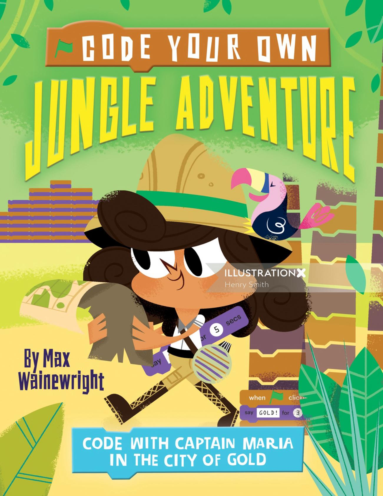 Cover Design For Code Your Own Jungle Adventure