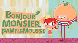 Cover illustration for Bonjour Monsieur Pamplemousse