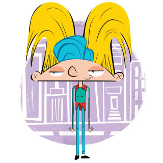 Cartoon Character of Hey Arnold