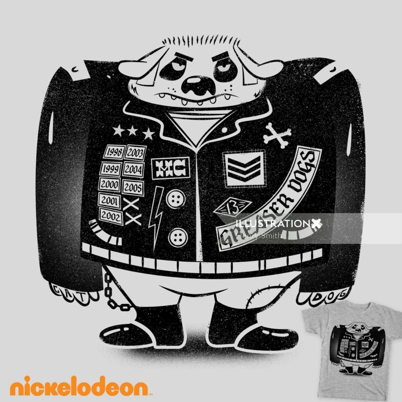 Cartoon illustration of Greaser Dog