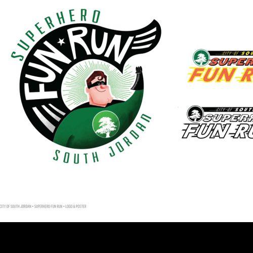 Superhero Fun Run Logo Design