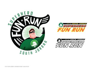 Superhero Fun Run Logo Design