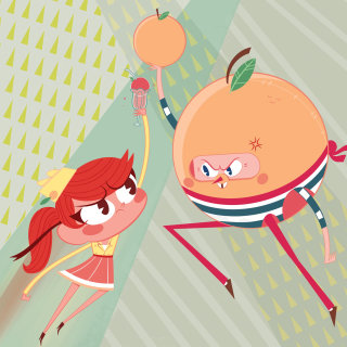 Comic Character of Ruby and Monsieur Pamplemousse