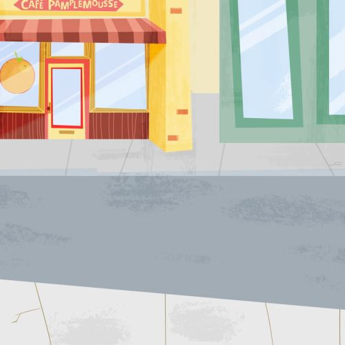 An Illustration Of Cafe Pamplemousse