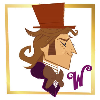 An illustration of Willy Wonka