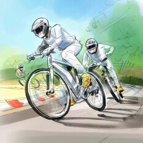 illustration Bicycle racer
