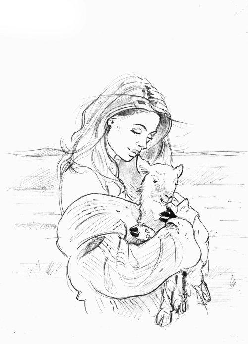 Line art of animal lovers