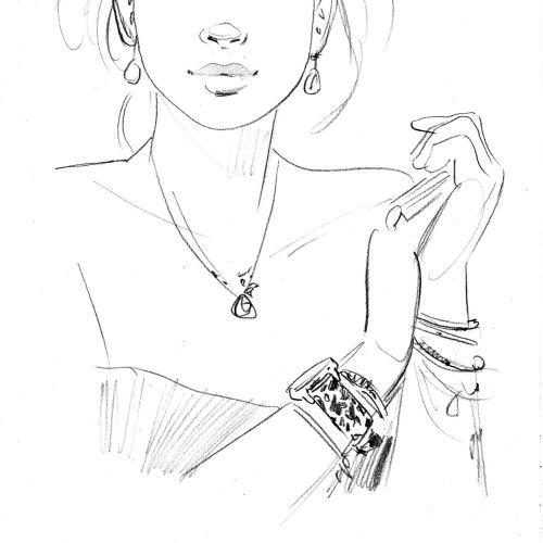 Sketch portrait of girl