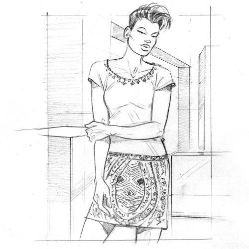 Fashion illustration of lady boy