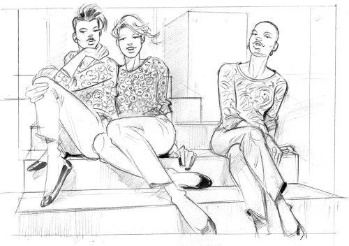 Line fashion illustration by Henryk Zimak
