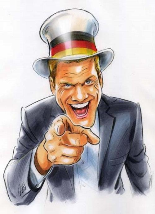 People illustration of laughing man