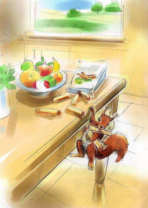 Animal illustration of squirrels