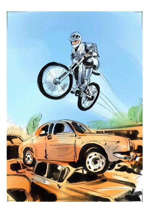 Graphic design of bike racing