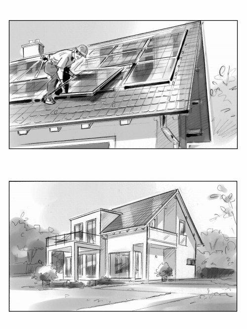Architecture illustration of house repairing