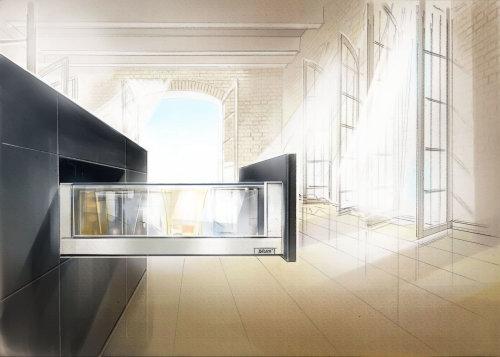 Graphic design of cupboard