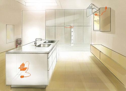 厨房数字绘画