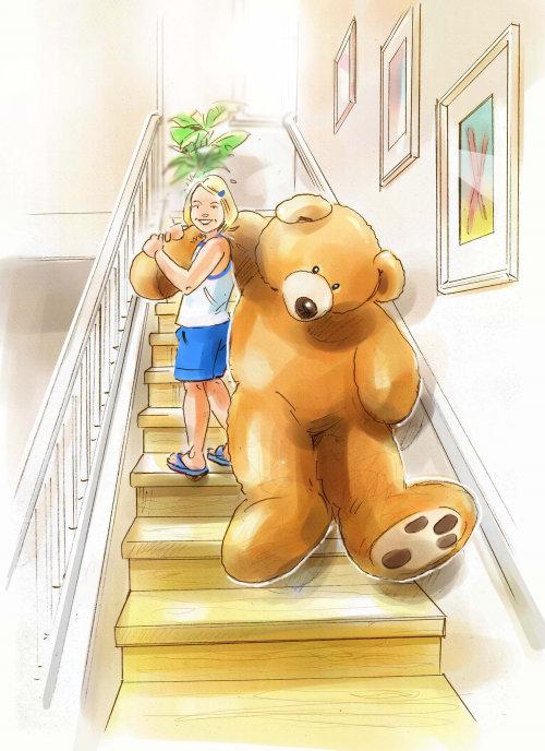 小女孩在玩洋娃娃插图