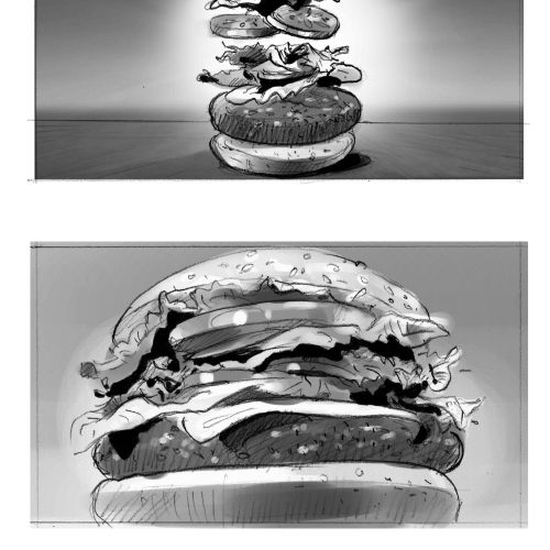 Food and drink illustration of burger